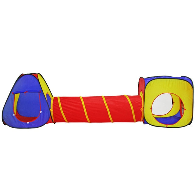 Premium 3 Piece Foldable Ball Pit, Tunnel & Playhouse - Beary Kids