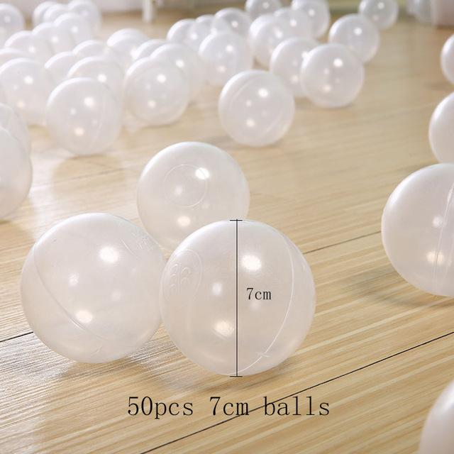 Ball Pit Balls - 50 Pieces - Clear Color - Beary Kids