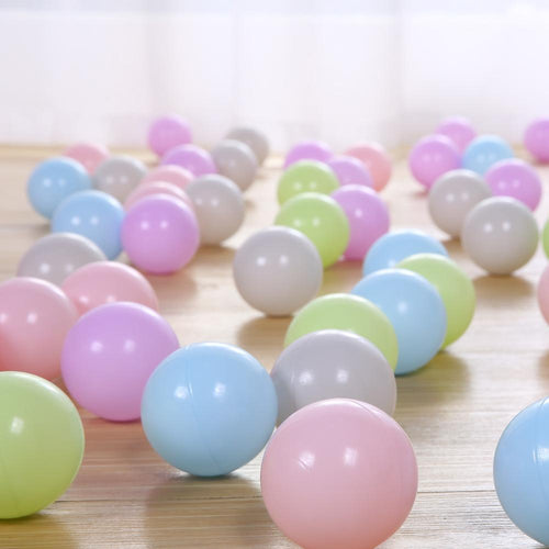 Ball Pit Balls - 50 Pieces - Pastel Colors - Beary Kids