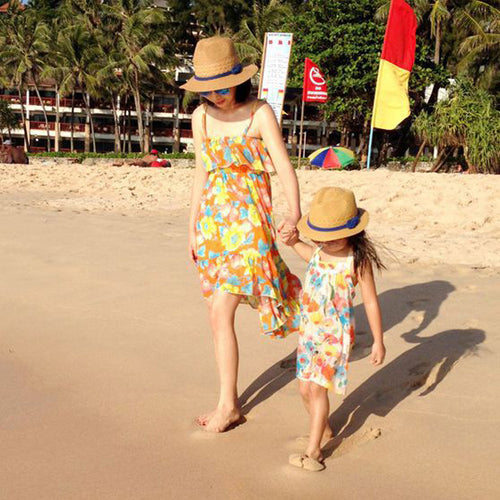 Mom & Me Straw Sun Hat - Beary Kids