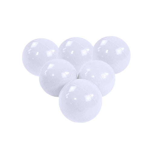 White Pit Ball - Bag of 50 Large (7cm) Balls - Beary Kids