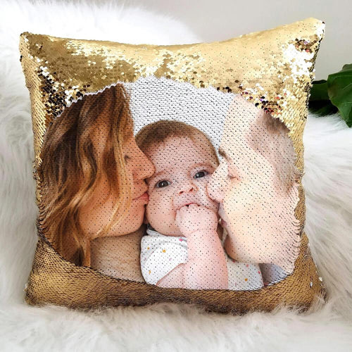 Custom Sequin Pillows - Beary Kids