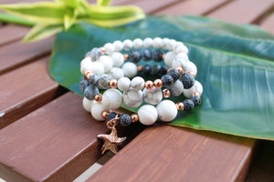 Howlite / Fire Agate Stack
