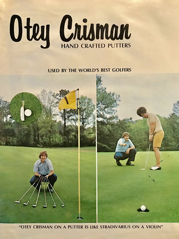 Otey Crisman putter brochure for handcrafted design make in America