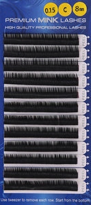Premium Mink Lashes C-Curl (0.15mm)