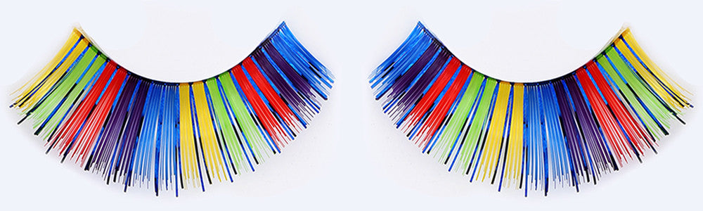 CL-C203 Dark Multi Color Tinsel Eyelashes (3 pack) ($3.32 per pair)