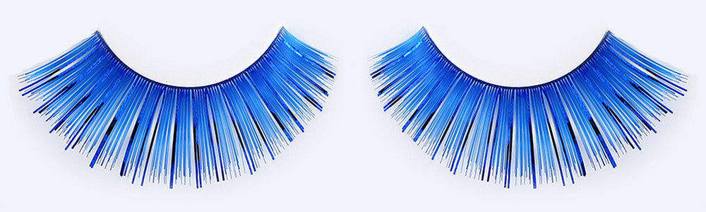 CL-C206 Blue Color Tinsel Eyelashes (3 pack) ($3.32 per pair)