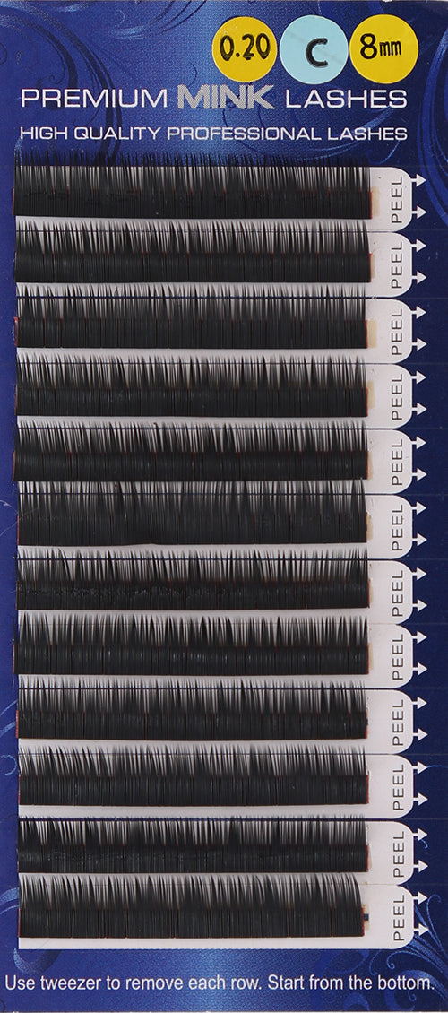 Premium Mink Lashes C-Curl (0.20mm)