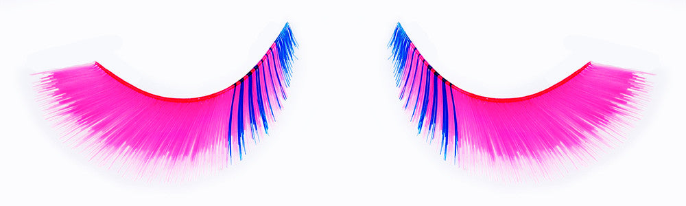 CL-C410 Feathered Hot Pink with Inner Royal Blue Accent