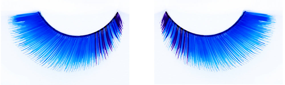 CL-C411 Feathered Royal Blue with Inner Purple Accent