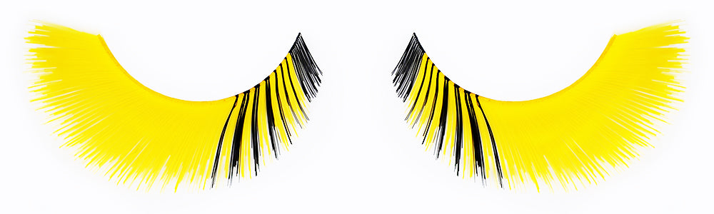 CL-C412 Feathered Yellow with Inner Black Accent