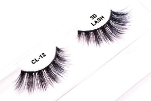 CL 3D Faux Mink Lashes #12 (4 Pack)