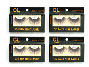 CL 3D Faux Mink Lashes #6 (4 Pack)