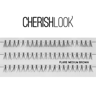 Cherishlook Eyelash #Flare Medium BROWN (100 Pack) ($1.10 per pack)