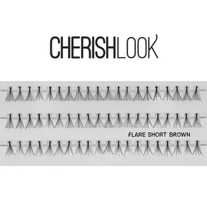 Cherishlook Eyelash #Flare Short BROWN (100 Pack) ($1.10 per pack)