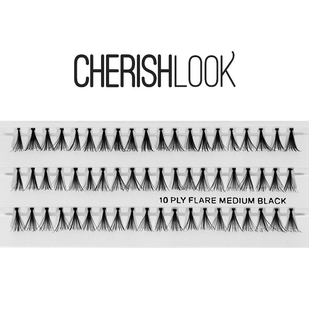 Cherishlook Eyelash #(10ply) Flare Medium (10 Pack) ($1.69 per pack)