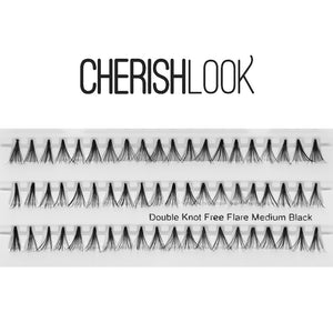 Cherishlook Eyelash #Double Knot Free Flare Medium (10 Packs) ($1.69 per pack)