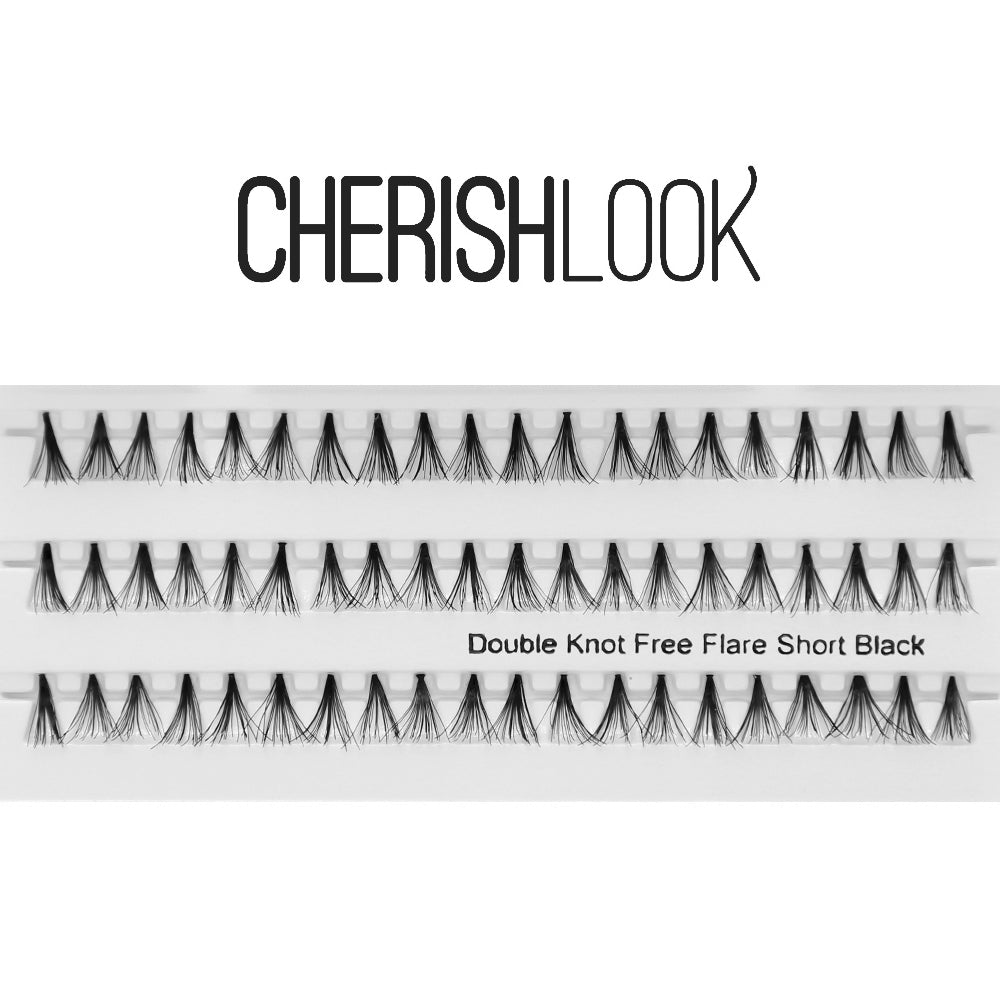 Cherishlook Eyelash #Double Knot Free Flare Short (10 Packs) ($1.69 per pack)