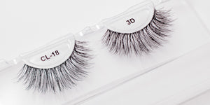 CL 3D Human Hair Lashes #18 (4 Pack)