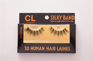 CL 3D Human Hair Lashes #21 (4 Pack)