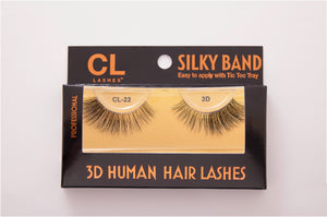 CL 3D Human Hair Lashes #22 (4 Pack)