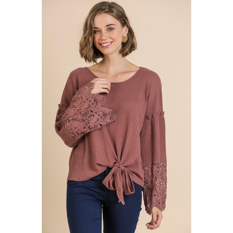 Berry Lace Blouse