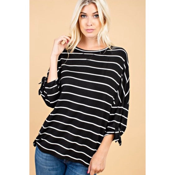 Going Anywhere Striped Blouse