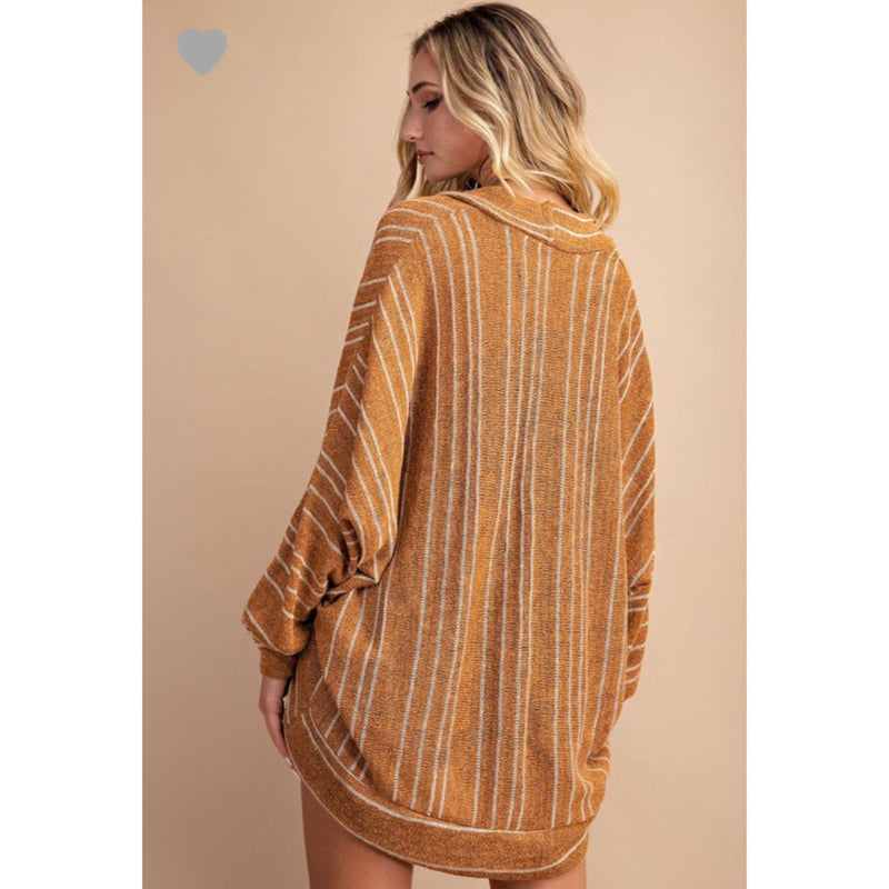 Cider Striped Cardigan