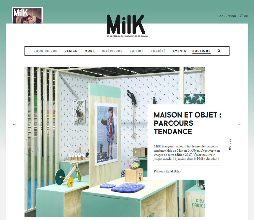 The Wandering Workshop was handpicked by The Milk Magazine for the 1st Tendance Kids Circuit at Maison et Objet