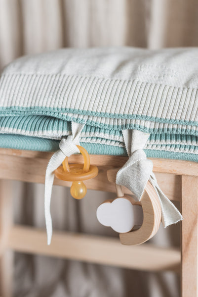 Cloud baby blanket & rattle