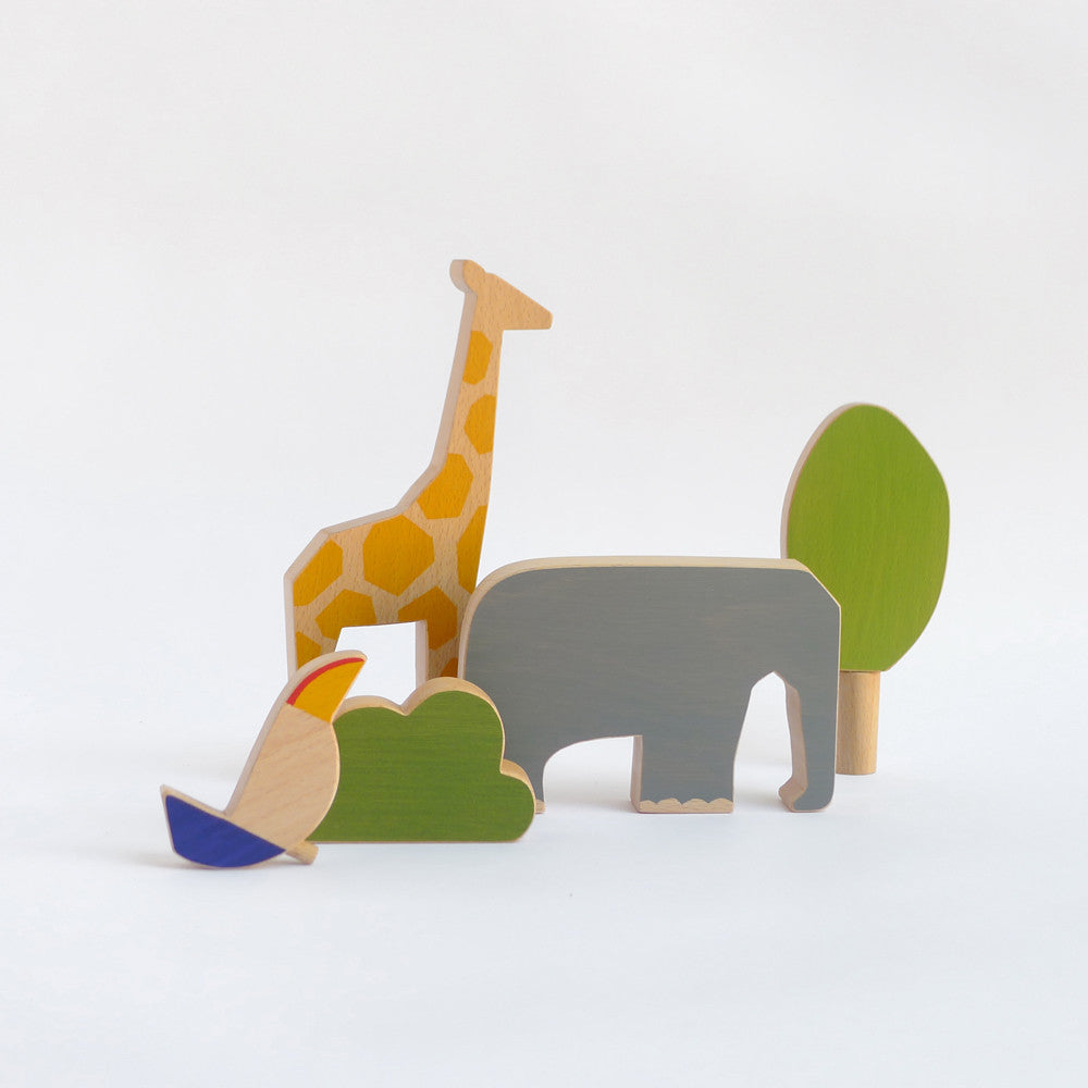 Wooden animals toy set - Africa