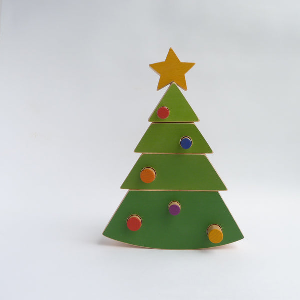 The Christmas tree stacking toy