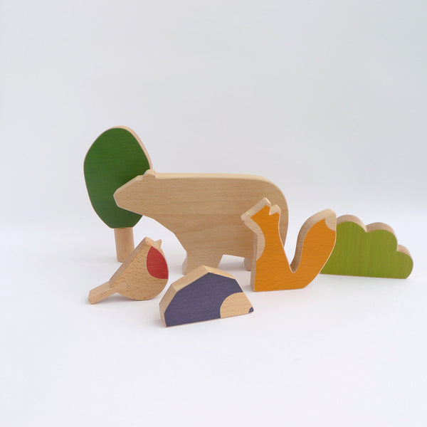 Woodland animals toy set