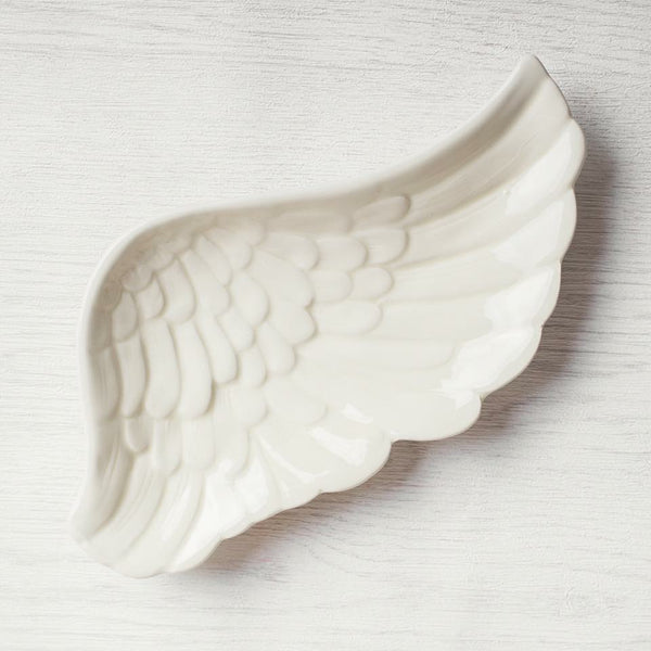 Angel wing trinket dish