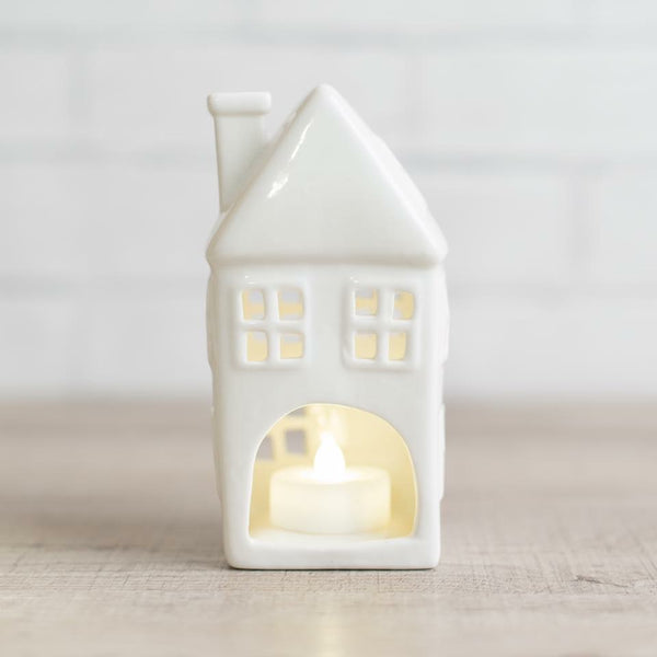 Ceramic tea-light house