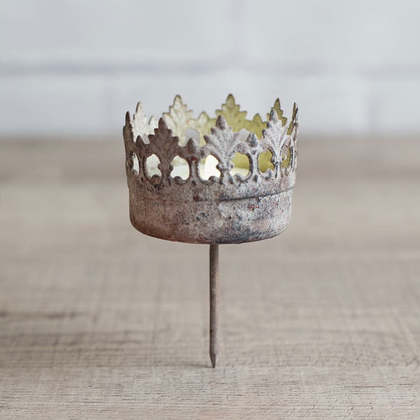 Crown tea-light stake
