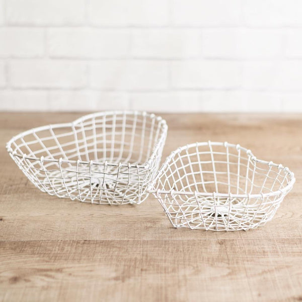 Heart shaped baskets
