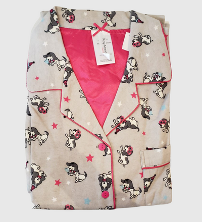 KayAnna Flannel Party Dogs PJ