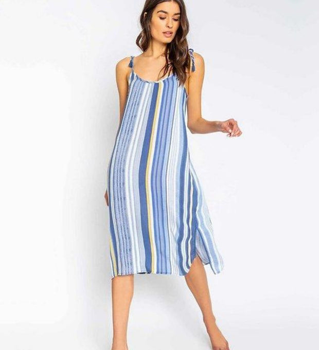 P.J. Salvage Beach Blues Stripe Dress