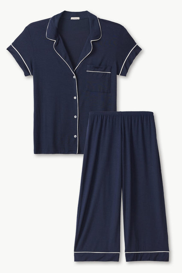 Eberjey Gisele Short Sleeve Cropped Sleep Set