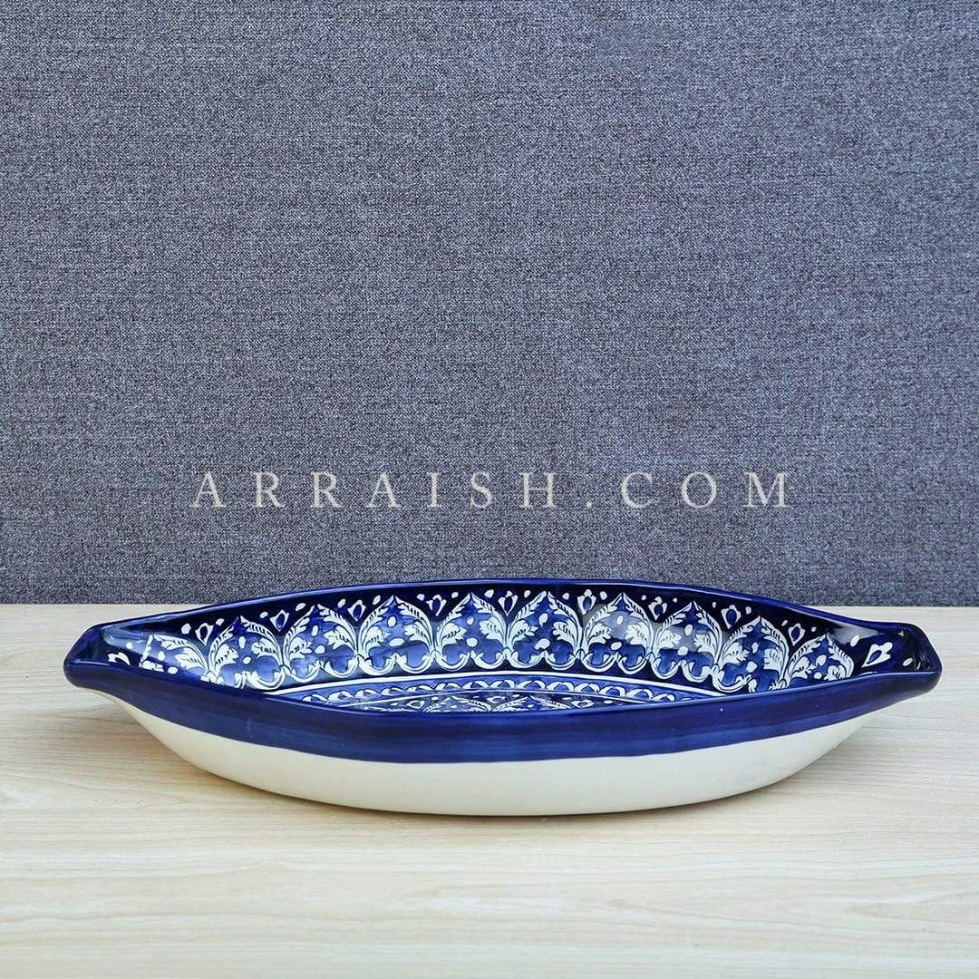 Ceramics Blue Felicity Large Oval Serving Dish