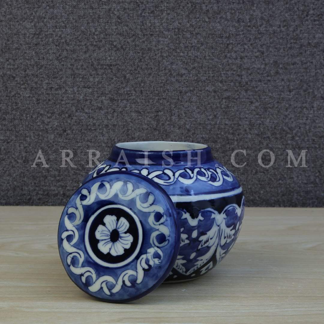 Ceramics Blue Felicity Storage Jar