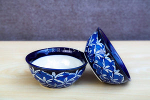 Ceramics Blue Heart Small Bowl Inner White - Set of 2