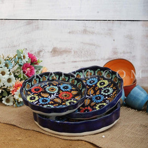 Ceramics Jungle Flower Round Serving Dish - Set of 3