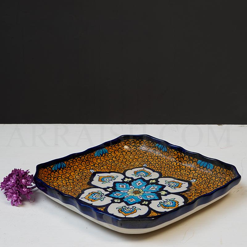 Oriental Square Dish - Medium - arraish.myshopify.com