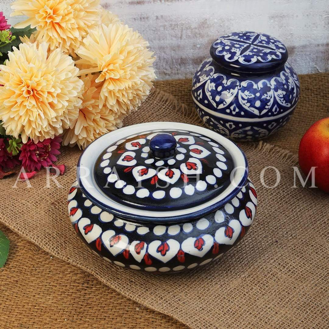 Ceramics Red Flower Handi Small