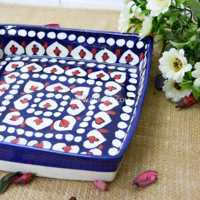 Red Flower Medium Serving Dish - Arraish