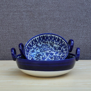 Ceramics Serina Blue Ceramic Karahi