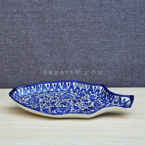 Ceramics Serina Blue Fish Dish