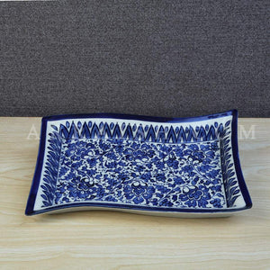 Ceramics Serina Blue Rectangle Dish